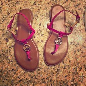Michael Kors Fuschia sandals women's 8